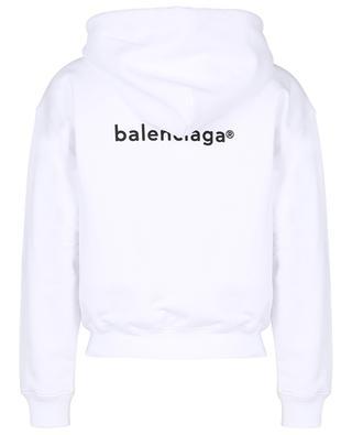 Sweat-shirt zippé court imprimé logo New Copyright Small Fit BALENCIAGA