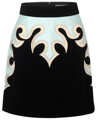 Ladybeetle Mystic Mini velvet and satin skirt ZIMMERMANN