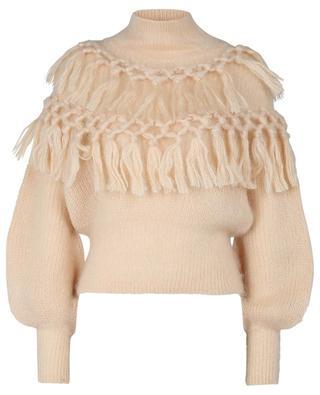 Pullover mit Stehkragen aus Mohair und Seide Ladybeetle Tassle ZIMMERMANN