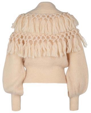 Ladybeetle Tassle mohair and silk blend funnel neck jumper ZIMMERMANN