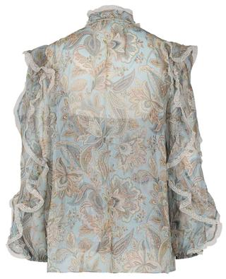 Paisley Ladybeetle print silk and lace blouse ZIMMERMANN
