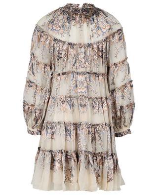 Robe courte en viscose et soie imprimé Paisley Ladybeetle ZIMMERMANN