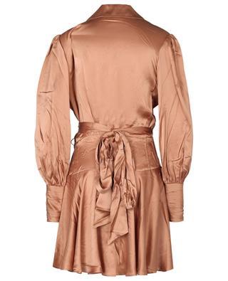 Minikleid aus Seidensatin Silk Wrap Mini ZIMMERMANN