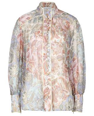 Bluse aus Musselin mit Paisley-Print Lucky Bound ZIMMERMANN
