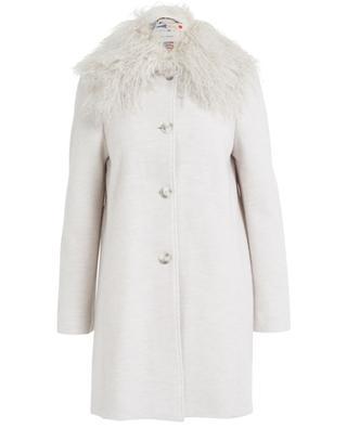 Mantel aus Schurwolle mit Pelzkragen URSULA ONORATI