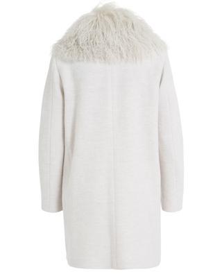 Manteau en laine vierge avec col en fourrure URSULA ONORATI