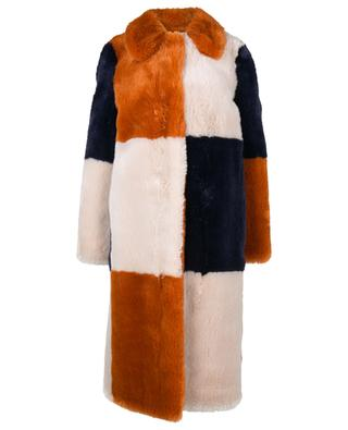 Adalyn tricolour faux fur coat STELLA MCCARTNEY