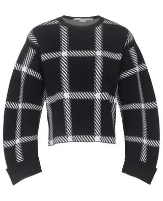 Clean Lumberjack checked asymmetrical boxy jumper STELLA MCCARTNEY