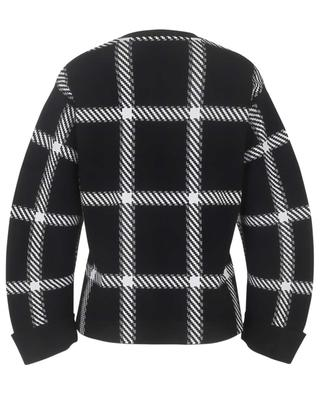 Asymmetrischer kariterter Boxy-Pullover Clean Lumberjack STELLA MCCARTNEY