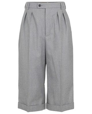 Wool flannel culottes with turn-ups SAINT LAURENT PARIS