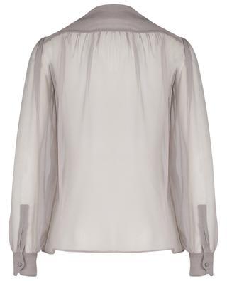 Bluse aus Seidengeorgette mit Schluppe SAINT LAURENT PARIS
