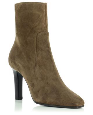 Jane 90 heeled suede booties SAINT LAURENT PARIS