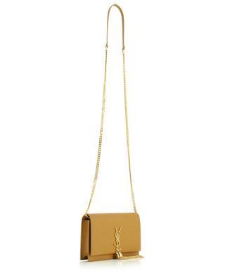 Portefeuille chaîne en cuir texturé Grain de Poudre Kate Tassel SAINT LAURENT PARIS