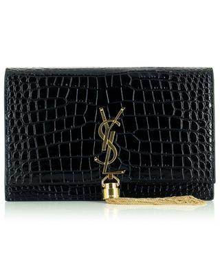 Kate croco effect chain wallet SAINT LAURENT PARIS