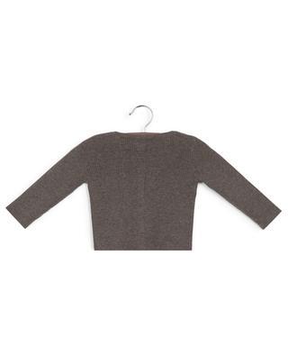 Cardigan en laine et coton côtelés Minot BONTON