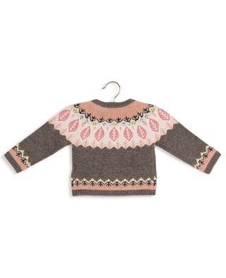 Geknöpfter Jacquard-Cardigan für Babys aus Wolle BONTON