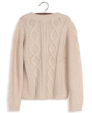 Torsad cable knit cardigan with Lurex BONTON