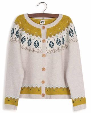 Button-down wool jacquard cardigan BONTON