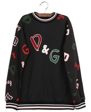 Back To School monogrammed embroidered sweatshirt DOLCE & GABBANA