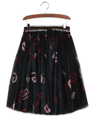 Back To School flared monogrammed tulle skirt DOLCE & GABBANA