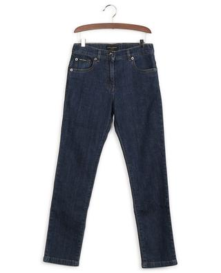 Cotton-blend We are D&G patch jeans DOLCE & GABBANA