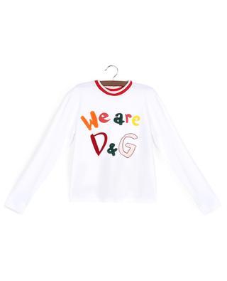 T-shirt à manches longues en coton We are D&G DOLCE & GABBANA