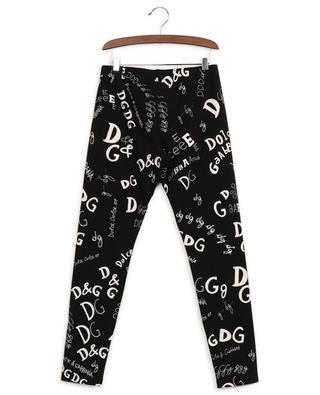 Logo-Leggings aus Baumwollmix DOLCE & GABBANA