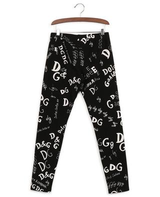 Cotton-blend logo print leggings DOLCE & GABBANA