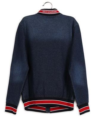 Cotton-blend denim jacket with D&G patch DOLCE & GABBANA