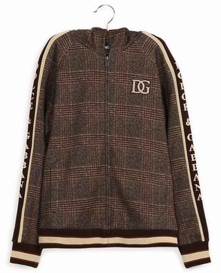 Hooded cotton check print sweatshirt DOLCE & GABBANA