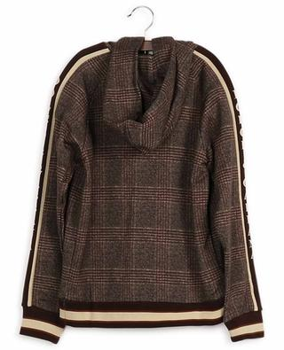 Kariertes Baumwoll-Sweatshirt mit Kapuze DOLCE & GABBANA