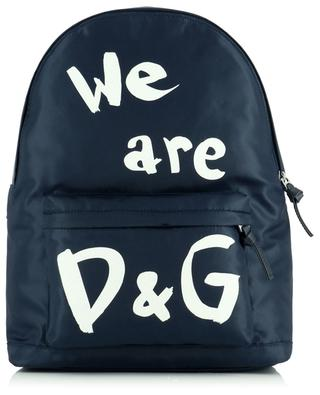 Sac à dos en nylon imprimé We are D&G DOLCE & GABBANA