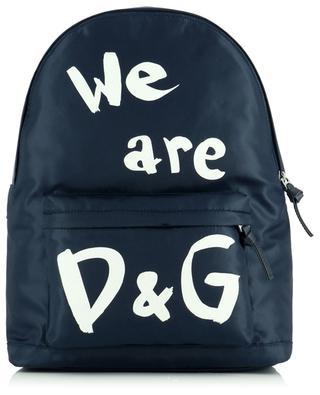 We are D&G print nylon backpack DOLCE & GABBANA