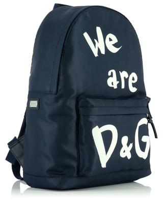 Rucksack aus Nylon mit Print We are D&G DOLCE & GABBANA