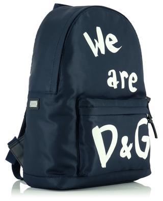 Sac à dos en nylon imprimé We are D&G DOLCE & GABBANA