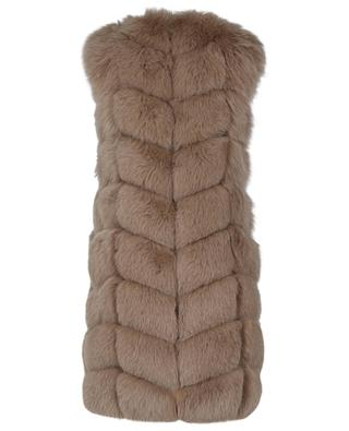 Cookie quilted real fur vest YVES SALOMON