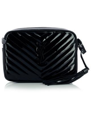Lou Camera quilted patent leather shoulder bag SAINT LAURENT PARIS