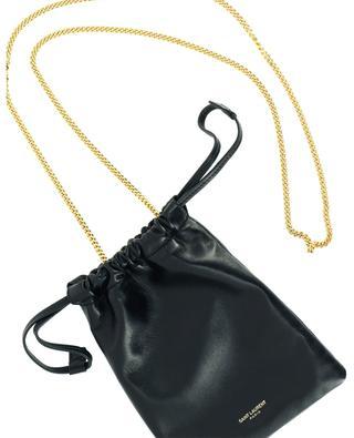 Brieftasche mit Kettengurt aus weichem Leder Pochon SAINT LAURENT PARIS
