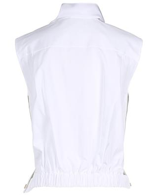 Cotton poplin top CHLOE