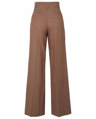 Virgin wool houndstooth pleated trousers CHLOE