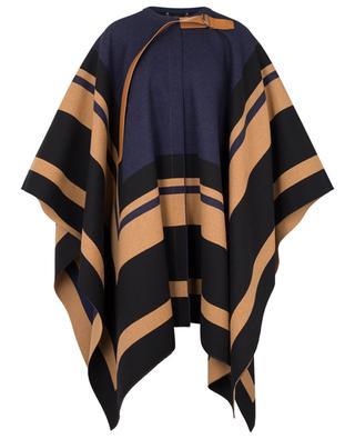 Cape en laine vierge imprimée CHLOE