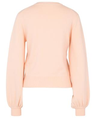 Round neck cashmere jumper with puff sleeves CHLOE