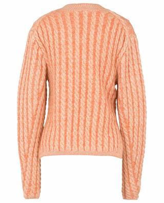 Cable knit virgin wool and mohair blend jumper CHLOE