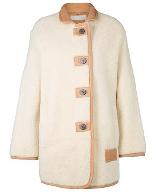 Button-down lamb shearling coat CHLOE