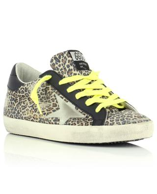 Superstar low-top leo print suede sneakers with light suede star GOLDEN GOOSE