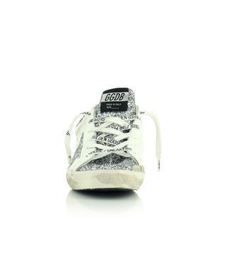 Sneakers aus weissem Leder mit silbernem Glitter Superstar GOLDEN GOOSE