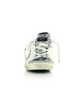 Superstar white leather and silver glitter sneakers GOLDEN GOOSE