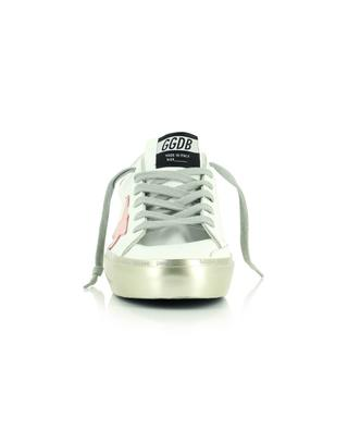 Hi Star white leather sneakers with silver platform and pink stars GOLDEN GOOSE