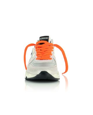 Materialmix-Sneakers mit rosa Craquelé und silbernen Details Running Sole GOLDEN GOOSE