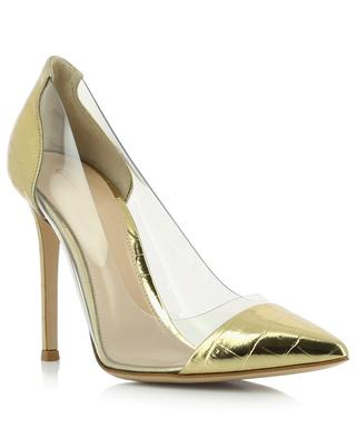 Plexi 105 golden croc effect patent leather pumps GIANVITO ROSSI